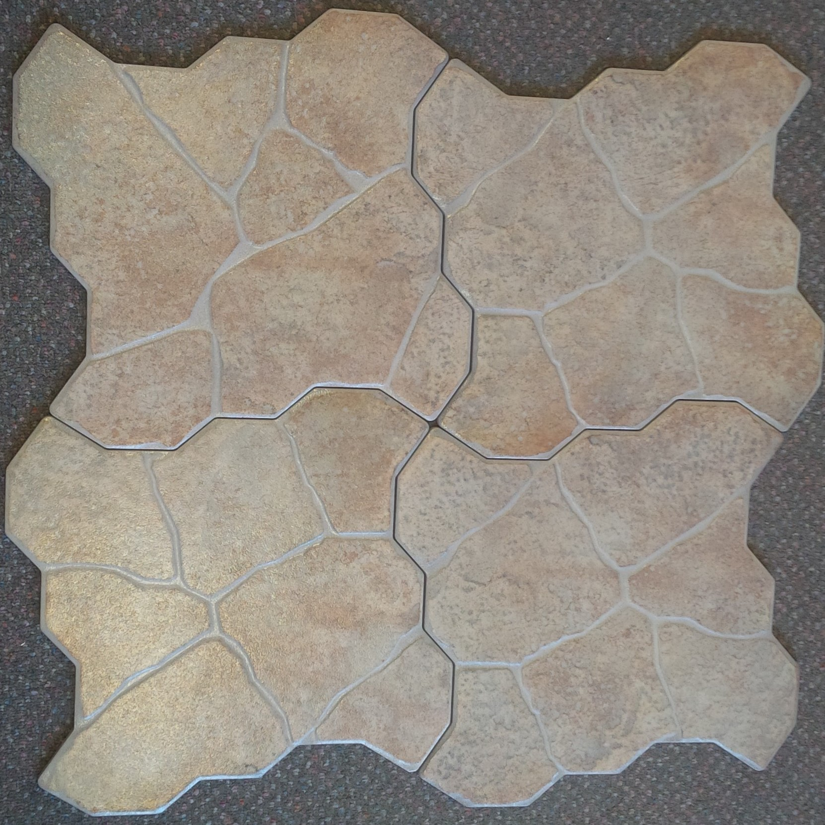 In or outdoor, this interlocking tile will look interesting on any entrance or front step!
